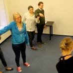 Warsztaty reżyserskie małych form teatralnych. Na początku rozgrzewka