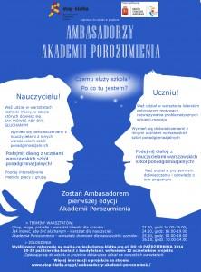 Ambasadorzy Akademii Porozumienia- wrzesień